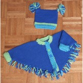 Plymouth Yarn P325 Poncho for Babies and Toddlers