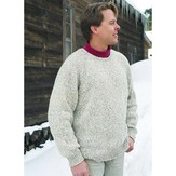 Knitting Pure & Simple 991 Neckdown Pullover For Men