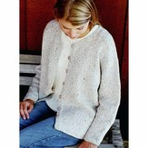 Knitting Pure & Simple 994 V-neck Neck Down Cardigan