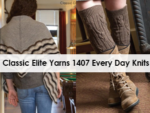 Classic Elite Yarns 1407 Every Day Knits Pattern Book