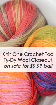 Knit One Crochet Too Ty-Dy Wool Closeout