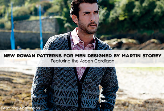 New Rowan patterns for men designed by Martin Storey
