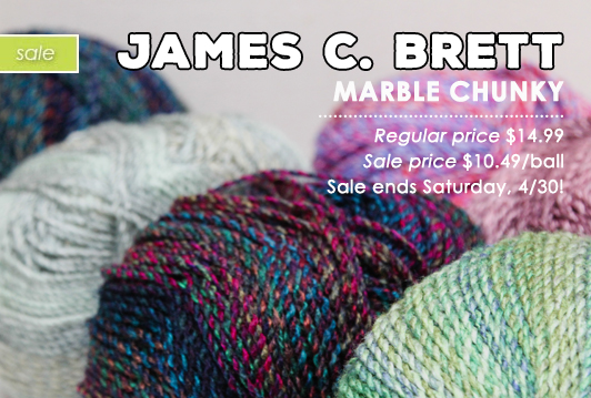James C. Brett Marble Chunky on SALE!