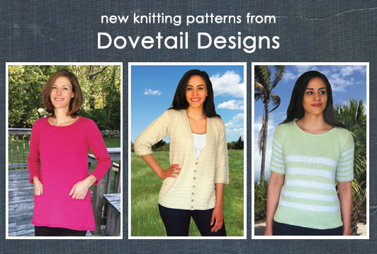 New knitting patterns from Dovetail Designs
