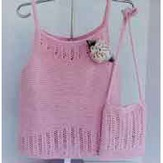 Ann Norling 57 Garter Stitch Camisole With Purse