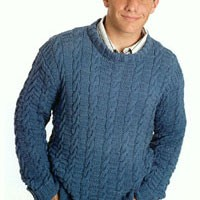 1271 Man's Cabled Pullover