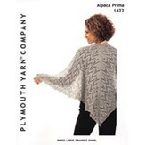 Plymouth Yarn 1422 Wings Large Triangle Shawl