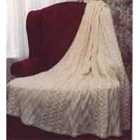 P122 Diamond And Cable Afghan