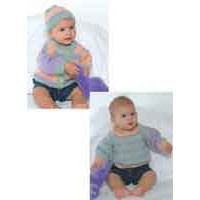 P462 3-Color Baby Sweater