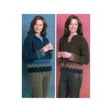 Reynolds 82208 Afghan Stitch Cardigan