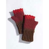 Valley Yarns 207 Rose Hips Crocheted Gauntlets