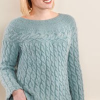 198 Brattleboro Cabled Swing Pullover