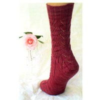 S25 Down And Up Lace Socks