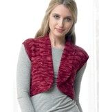 Araucania Moss Stitch Bolero with Roll Back Collar PDF