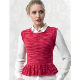 Araucania Ladies Top with Lace Peplum PDF