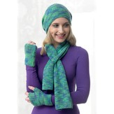 Araucania Textured Neck Wrap, Hat, and Fingerless Gloves PDF