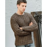 Blue Sky Alpacas Men's Ribbed Sweater
