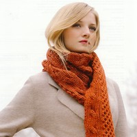 Peruvian Cabled Scarf