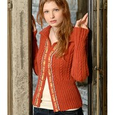 Blue Sky Alpacas Ribbon Trim Cardigan