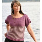 Cascade Yarns A141 Slip Stitch Short Sleeve Top (Free)