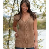Cascade Yarns A157 Cable Tunic (Free)