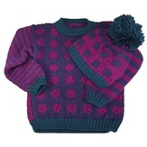 Cascade Yarns A184 Dots & Stripes Sweater & Hat (Free)