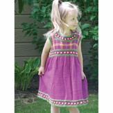 Cascade Yarns DK210 Girls' Plaid Dress (Free)