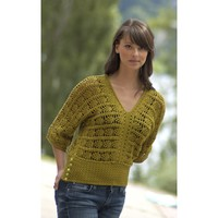 DK246 Ultra Pima Crocheted Pineapple Top (Free)
