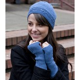 Cascade Yarns FW164 Heritage Seamless Hat & Hand Warmers (Free)