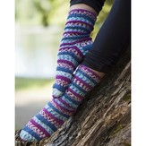 Cascade Yarns FW190 Popp'in Prints Socks (Free)