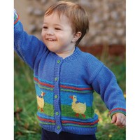 W187 220 Superwash Duck Cardigan (Free)