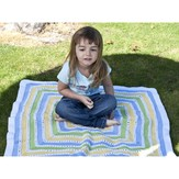 Cascade Yarns W263 220 Superwash Inside Out Baby Blanket (Free)