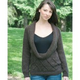 Cascade Yarns W383 Shawl Sweater (Free)