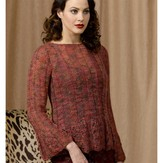 Stacy Charles Fine Yarns Scalloped Ribbed Pullover (Free)