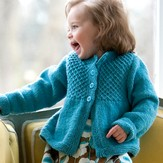 Classic Elite Yarns Princess Child's Smocked Cardigan (Free)