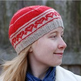 Classic Elite Yarns Healthy Heart Hat for Stitch Red (Free)
