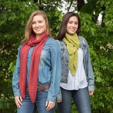 Classic Elite Yarns Chevron Eyelet Scarves (Free)