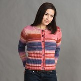 Classic Elite Yarns 1417 Deep Rib Cardigan PDF