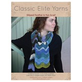Classic Elite Yarns Striped Feather and Fan Scarf PDF