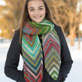 Classic Elite Yarns 9246 Diagonal Scarf PDF