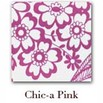 Chic.a Clear Front Zipper Pouches - Large - Pink