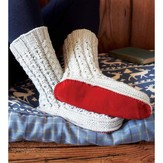 Debbie Bliss Cabled Slipper Socks PDF