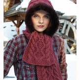 Debbie Bliss Fur-Edged Hooded Scarf PDF - Magazine #9