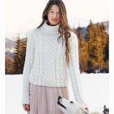 Debbie Bliss Turtleneck Cabled Sweater PDF - Magazine #9