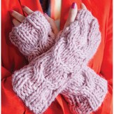 Debbie Bliss Cabled Mitts PDF