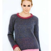 Debbie Bliss Pink-Edged Sweater PDF