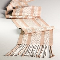 #09 6-Shaft Advancing Twill with Plain Weave Stripes Scarf (Free)