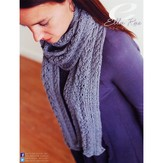 Ella Rae 11-01 Cable & Fishtail Lace Scarf