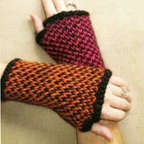 Lisa Ellis Designs A-22 Twined Fingerless Gloves PDF