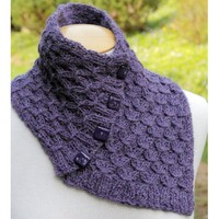 A-32 Buttoned Neck Wrap and Scarf PDF